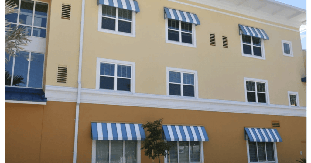 commercial aluminum awnings in Orlando