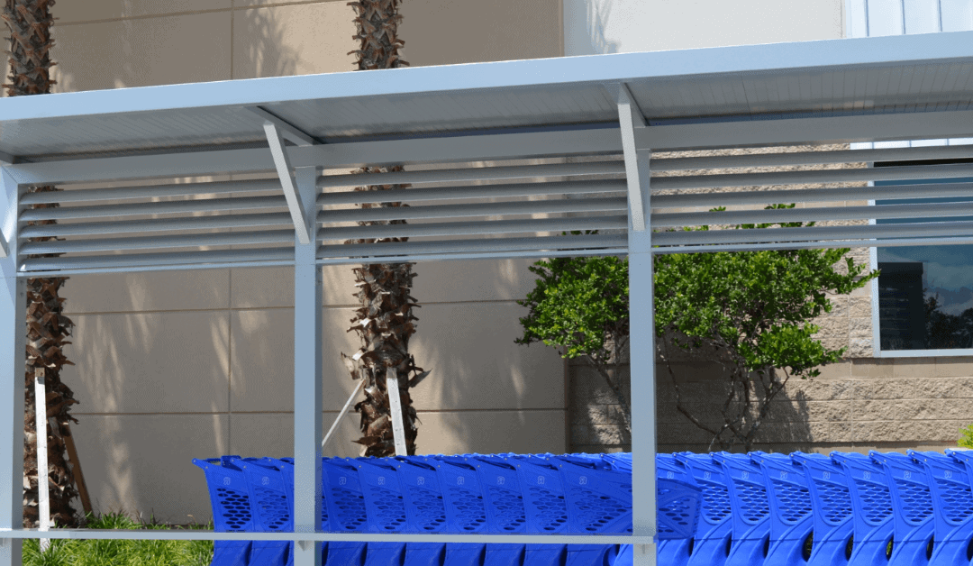Dress Things Up With a Freestanding Canopy for Shopping Carts