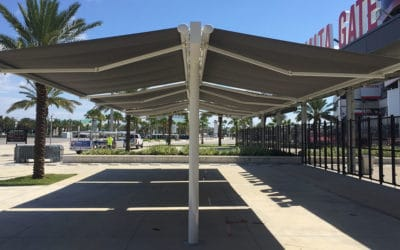 Make Your Clients Feel More Comfortable With a Retractable Metal Awning